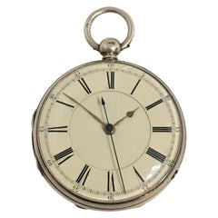 Early Silver Pocket Watch with Swift Second