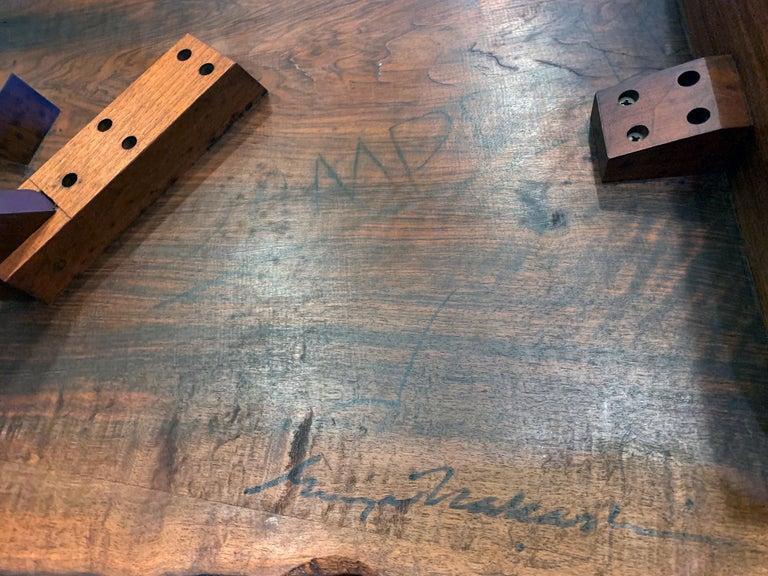 Early Slab Walnut Coffee Table George Nakashima For Sale 7