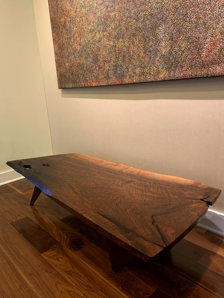 Mid-Century Modern Early Slab Walnut Coffee Table George Nakashima For Sale