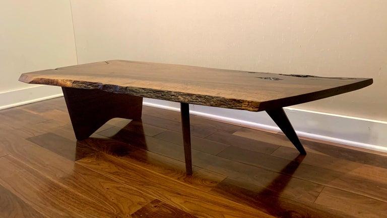 American Early Slab Walnut Coffee Table George Nakashima For Sale