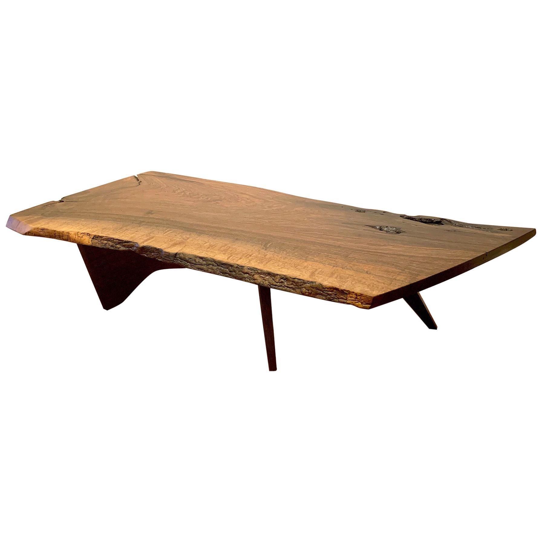 Early Slab Walnut Coffee Table George Nakashima