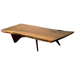 Early Slab Walnut Coffee Table George Nakashima