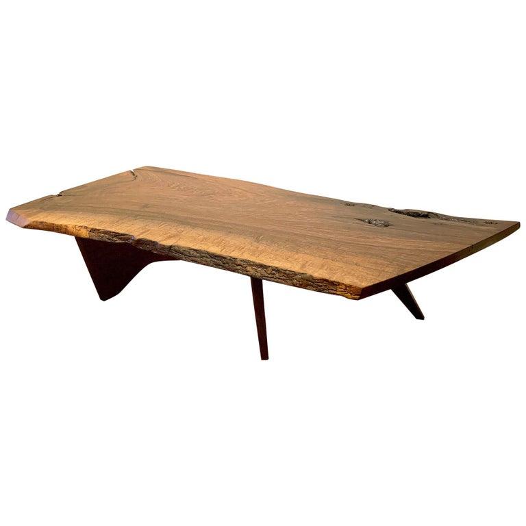 Early Slab Walnut Coffee Table George Nakashima For Sale