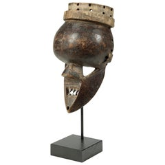 Early Small Salampasu Warrior's Mask, Zaire, Africa, Early 20th Century