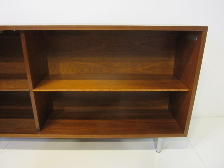 American Early Smaller George Nelson Credenza / Console / Bookcase for Herman Miller For Sale