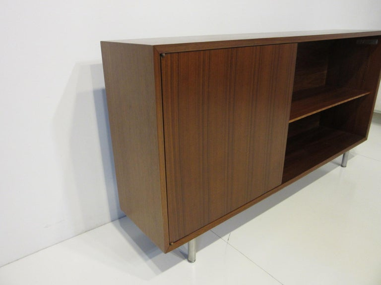 20th Century Early Smaller George Nelson Credenza / Console / Bookcase for Herman Miller For Sale