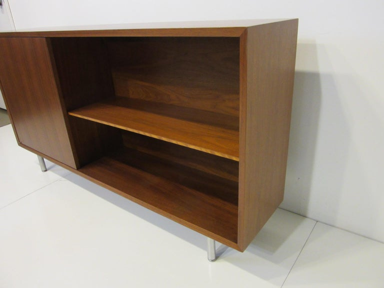 Walnut Early Smaller George Nelson Credenza / Console / Bookcase for Herman Miller For Sale