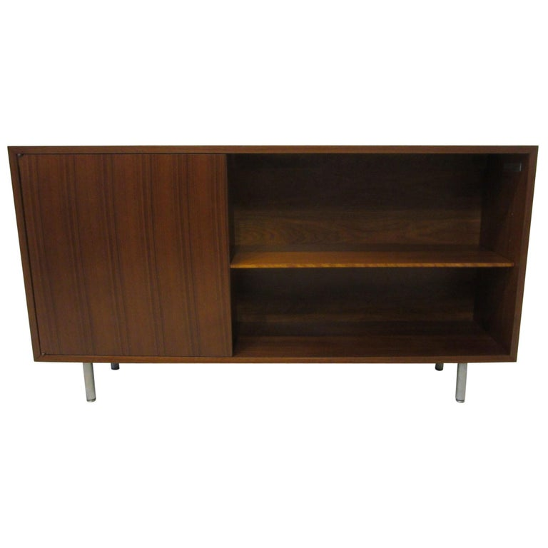 Early Smaller George Nelson Credenza / Console / Bookcase for Herman Miller For Sale