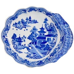 Early Spode Shaped Dish