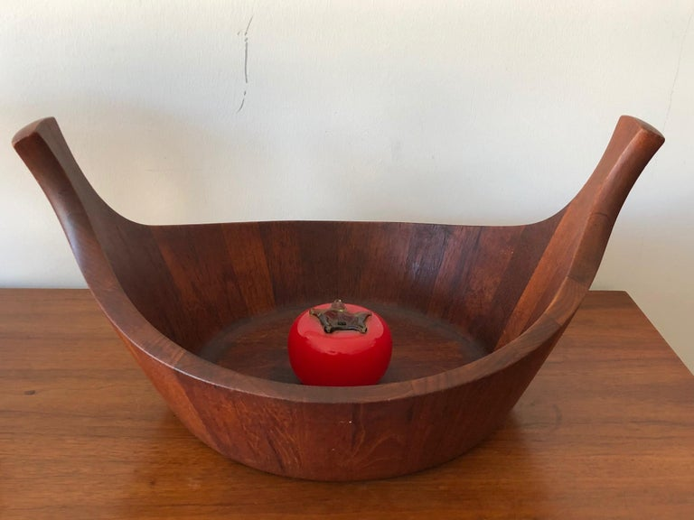 Mid-20th Century Early Staved Teak Bowl by Jens Quistgaard, Denmark For Sale