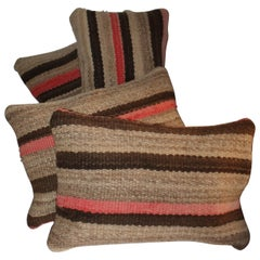 Early Striped Navajo Indian Weaving Pillows, 4
