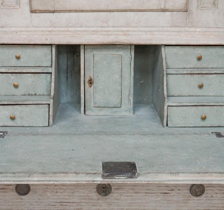 Hand-Carved Early Swedish Secretary For Sale