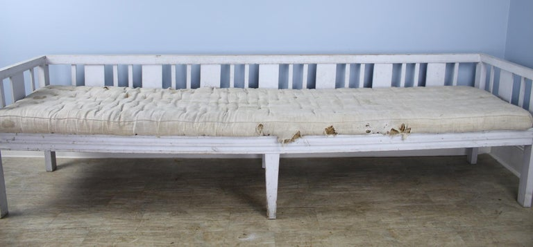 Early Swedish Sofa or Daybed, Original Paint In Distressed Condition For Sale In Port Chester, NY