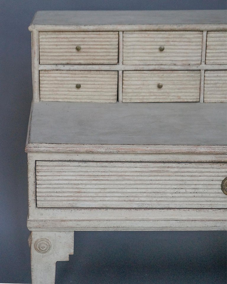 Painted Early Swedish Writing Desk For Sale