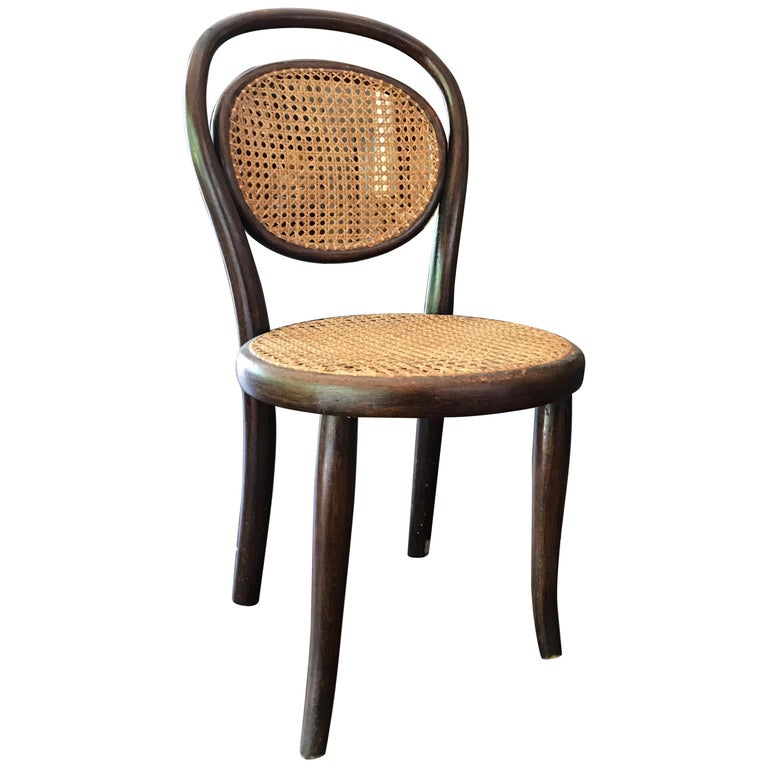 Early Thonet Child Chair Labeled For Sale at 1stdibs
