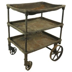 Early Three-Tier Industrial Cart
