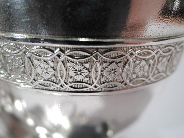 Early Tiffany American Classical Sterling Silver Figural Cigar Holder For Sale 1