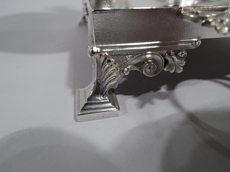 Early Tiffany American Classical Sterling Silver Figural Cigar Holder For Sale 3
