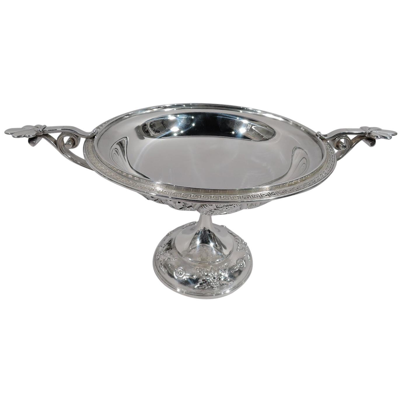 Early Tiffany Sterling Silver Greek Revival Classical Kylix Compote