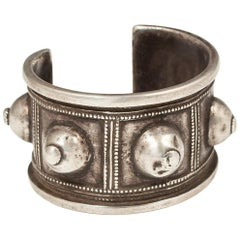 Early to Mid-20th Century Silver Tribal Bracelet, Algeria, North Africa