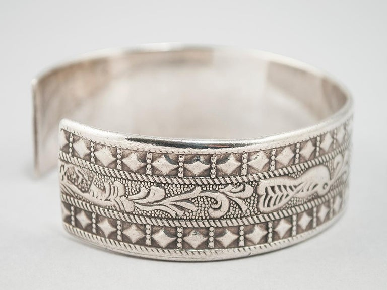 Libyan Early to Mid-20th Century Silver Tribal Bracelet, Berber People, Libya For Sale