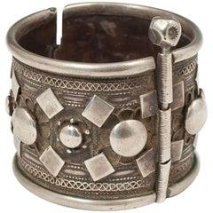 Early to Mid-20th Century Silver Tribal Bracelet, Rashaida People, North Africa