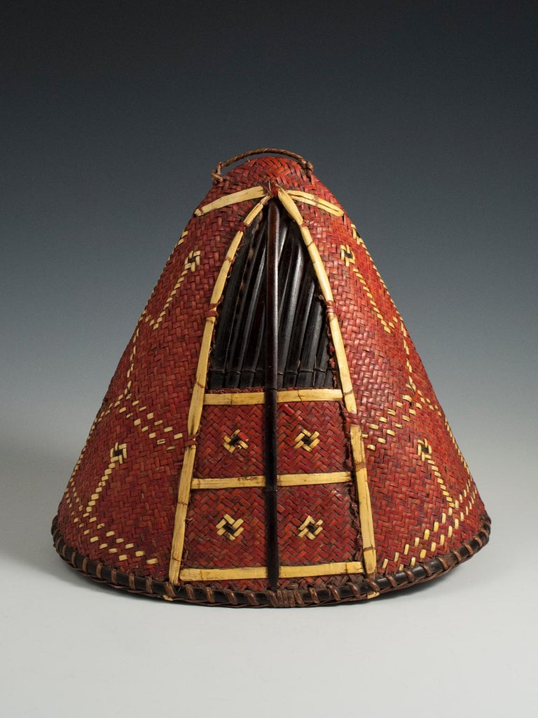 Early to Mid-20th Century Tribal Hat, Naga People, Northeastern India