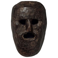 Early to Mid-20th Century Tribal Mask, Middle Hills, Nepal