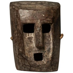 Early to Mid-20th Century Tribal Mask, Terai, Nepal