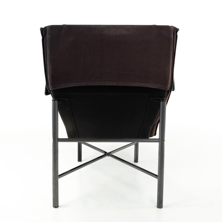 Late 20th Century Early Tord Bjorklund for IKEA Mid Century Leather Chaise Lounge Chair For Sale