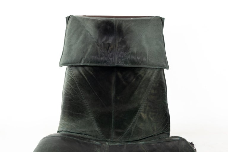 Metal Early Tord Bjorklund for IKEA Mid Century Leather Chaise Lounge Chair For Sale