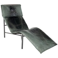Early Tord Bjorklund for IKEA Mid Century Leather Chaise Lounge Chair