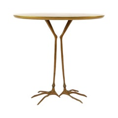 Early Traccia Table in Bronze, Gold Leaf by Méret Oppenheim for Simon Gavina