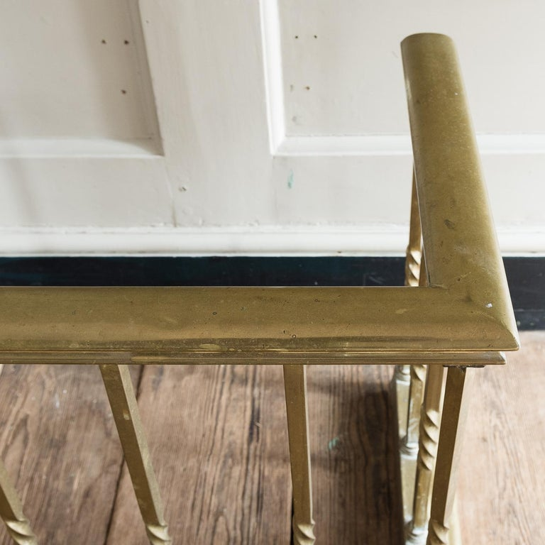 Early 20th Century English Brass Club Fender For Sale 3