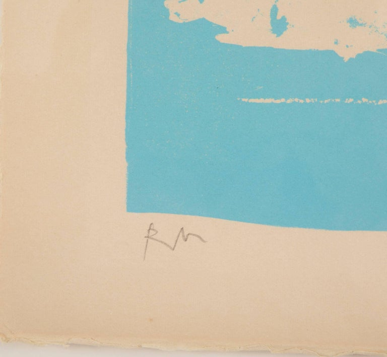 Mid-Century Modern Early Untitled Lithograph by Robert Motherwell For Sale