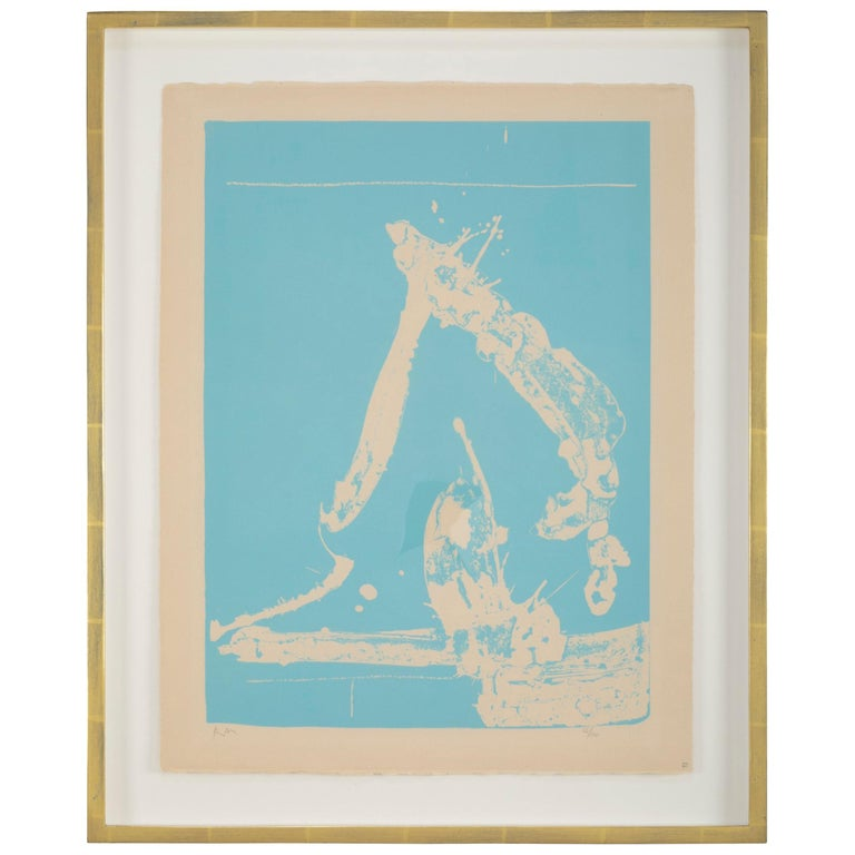 Early Untitled Lithograph by Robert Motherwell For Sale