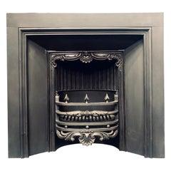 Early Victorian 19th Century Scottish Cast Iron Fireplace Insert