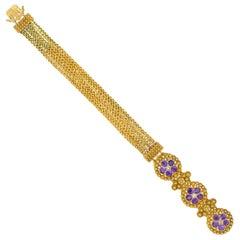 Early Victorian Amethyst Bracelet