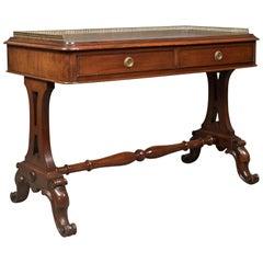 Early Victorian Antique Writing Library Table, Mahogany, English, circa 1840