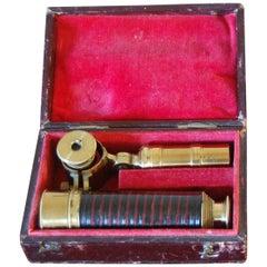 Early Victorian Cased Student's Field Telescope by WE & F Newton, Fleet Street