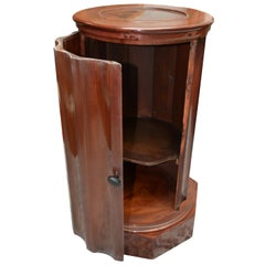 Early Victorian Mahogany Bedside Table or Somno