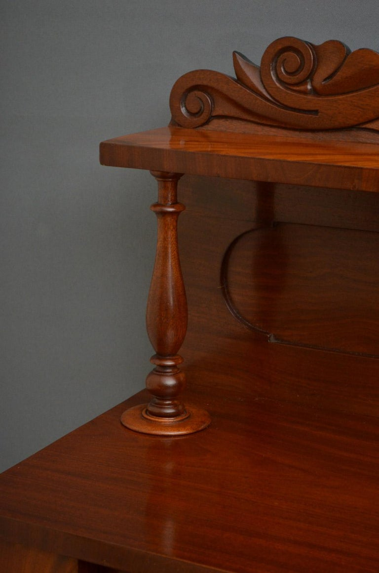 English Early Victorian Mahogany Chiffonier For Sale