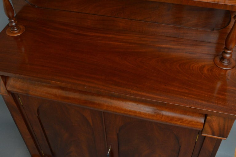 Early Victorian Mahogany Chiffonier In Good Condition For Sale In Whaley Bridge, GB