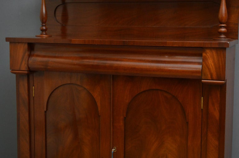 Mid-19th Century Early Victorian Mahogany Chiffonier For Sale