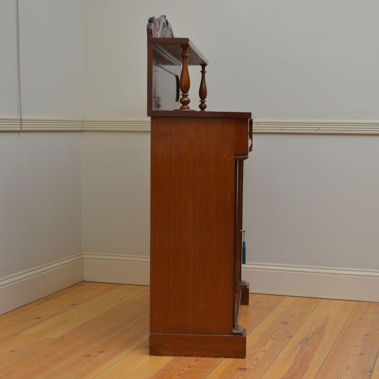 Early Victorian Mahogany Chiffonier For Sale 3