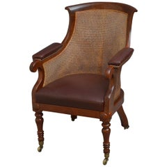 Early Victorian Mahogany Library Chair