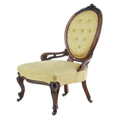 Early Victorian Mahogany Salon Nursing Chair