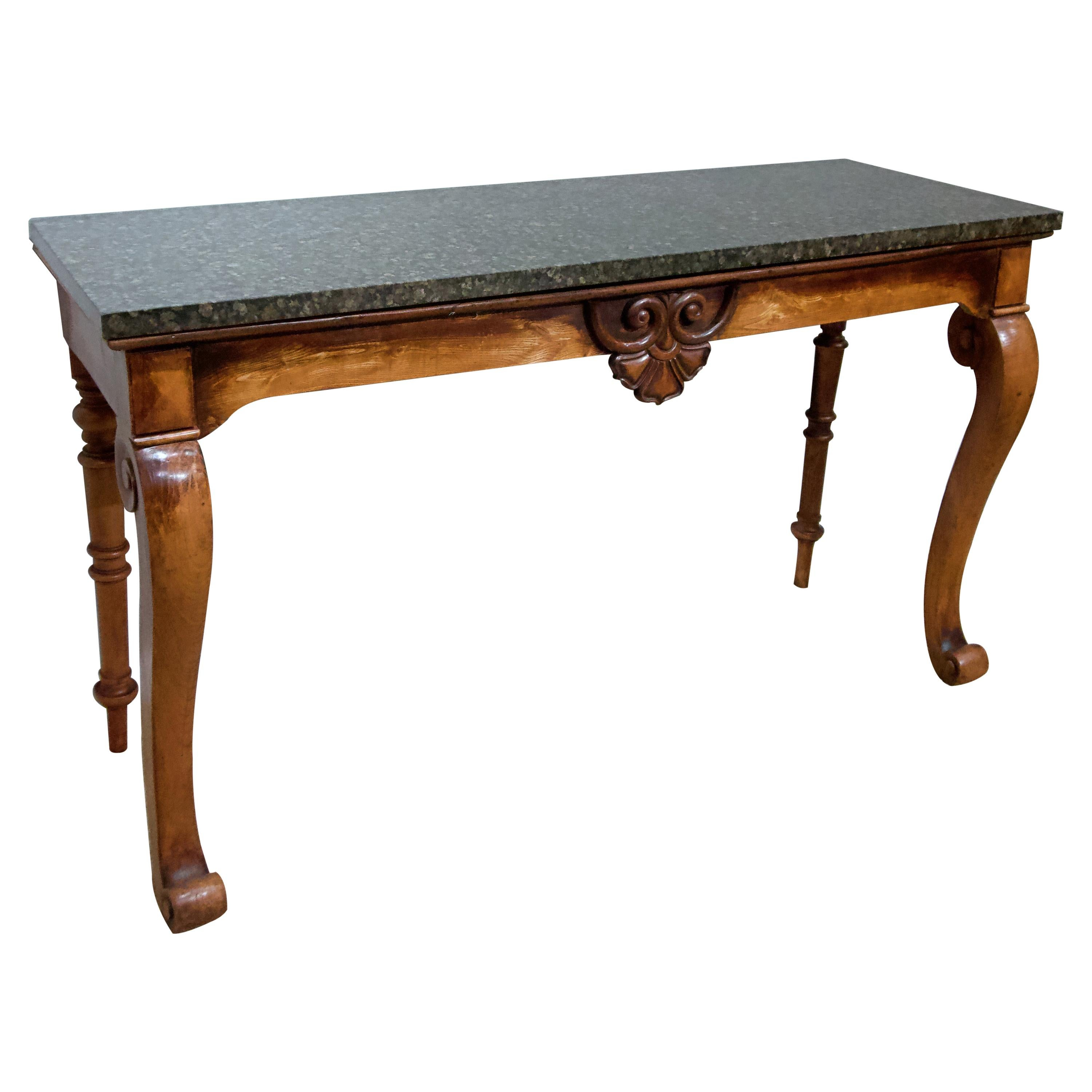 Early Victorian Marble Top Console Table