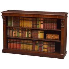 Early Victorian Open Bookcase in Mahogany