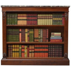Early Victorian Open Bookcase, Mahogany